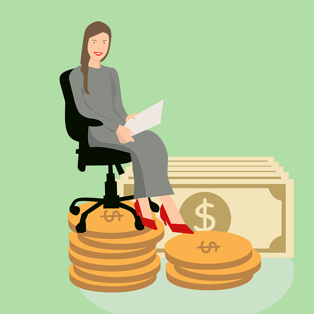 person sitting on chair upon pile of money