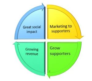 Four steps to success model for nonprofit organisations