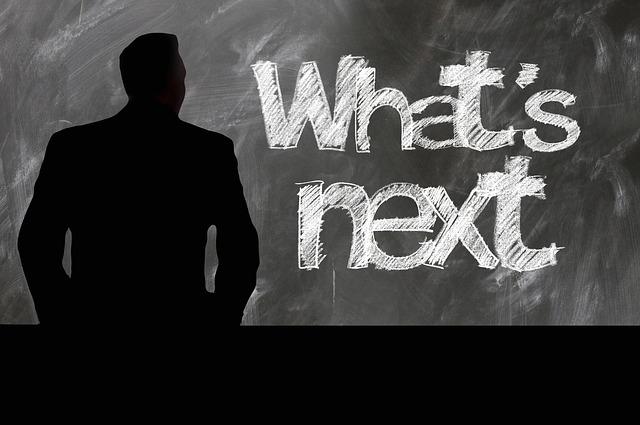 Whats Next written in chalk on blackboard